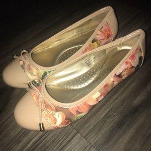 Patent & Floral Ballet Flats